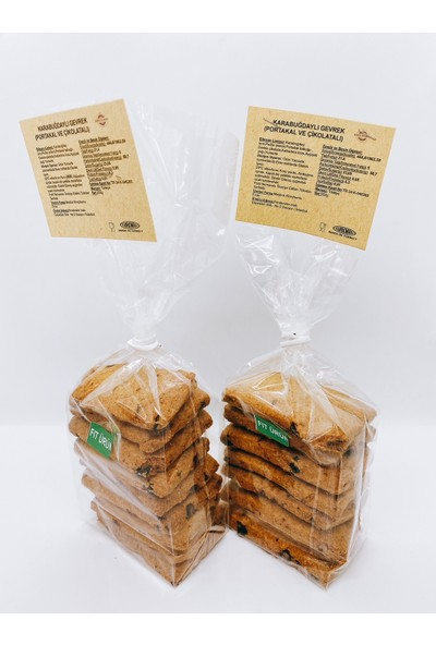 Kireçburnu Fırını Karabuğdaylı Gevrek (Portakal ve Çikolatalı) 200 gr x 2