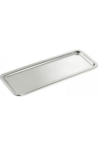 Vip Kitchen Çelik Dikdörtgen Servis Sunum Tepsisi 33 cm 6 adet