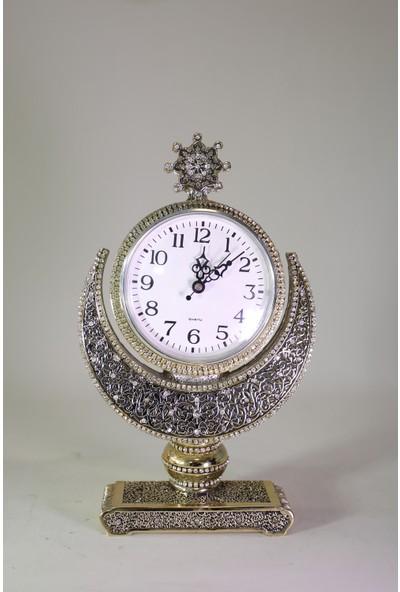 Doruk Hediyelik Hilal Yıldızlı Saat Gold