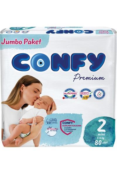 Confy Premium Bebek Bezi 2 Beden Mini 80 Adet