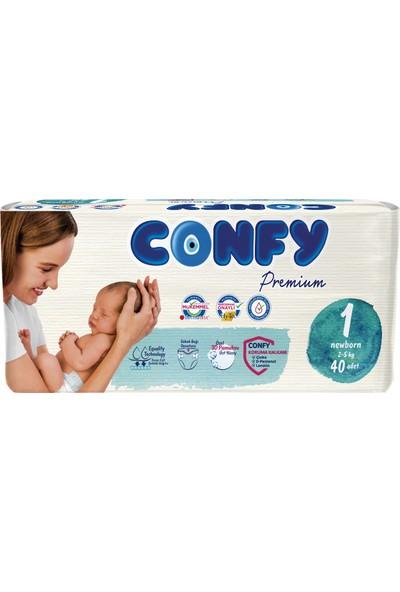 Confy Premium Bebek Bezi 1 Beden Yenidoğan 40'lı