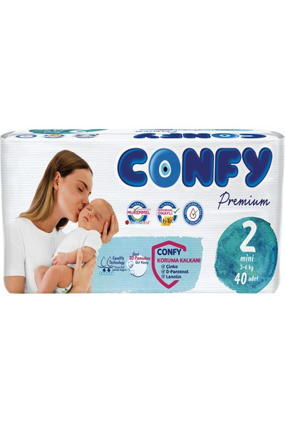 Confy Premium Bebek Bezi 2 Beden Mini 40'lı