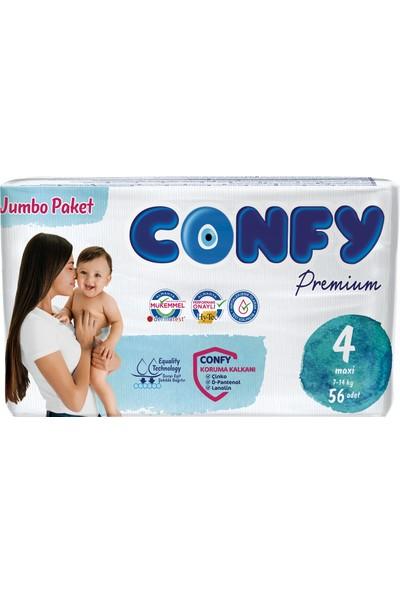 Confy Premium Bebek Bezi 4 Beden Maxi 56'lı