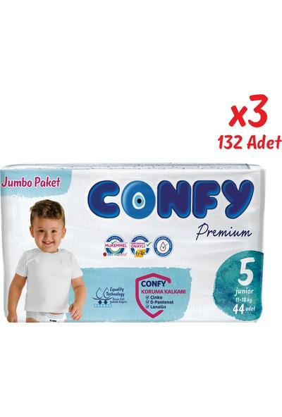 Confy Premium Bebek Bezi 5 Beden Junior 44 Adet x 3 Paket (132 Adet)