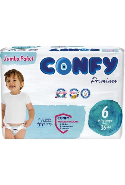 Confy Premium Bebek Bezi 6 Beden Extralarge 36 Adet
