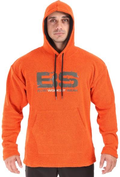 Big Sam Kapşonlu Kışlık Havlu Spor Sweatshirt Oversize 4718