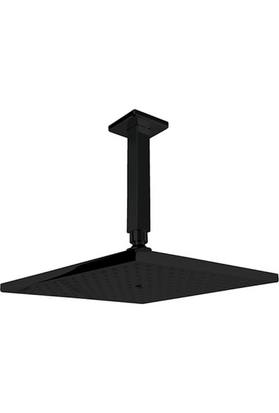 Newarc Corner Duş Başlığı-Siyah - Tavandan Ayarlı 25X25 cm