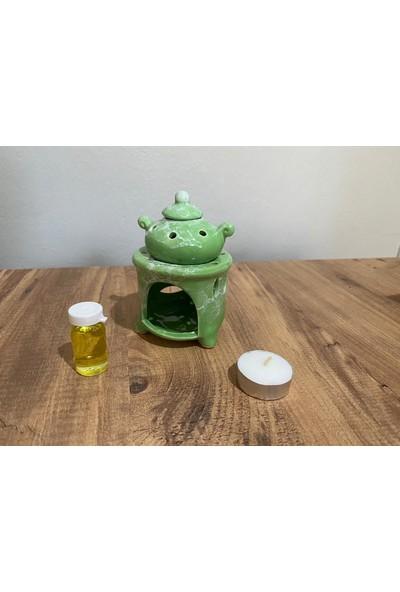 M&B Çaydanlık Buhurdanlık Yeşil Buhurdan Set