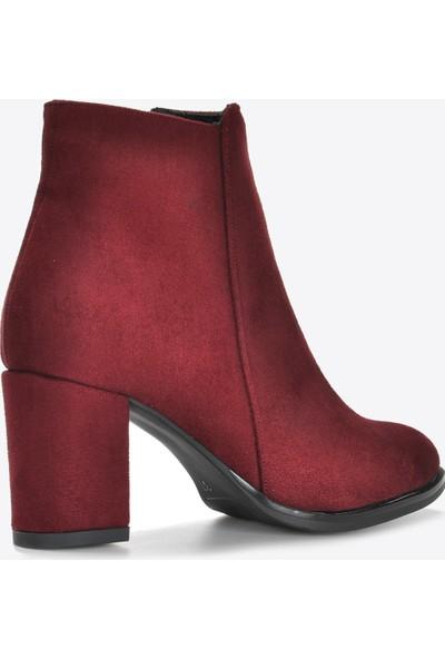 Vizon Ayakkabı Kadın Bordo Bot VZN20-062K