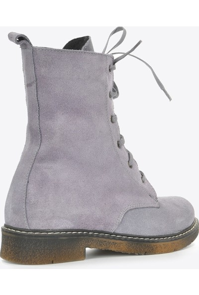 Vizon Ayakkabı Kadın Lila Nubuk Bot VZN20-036K