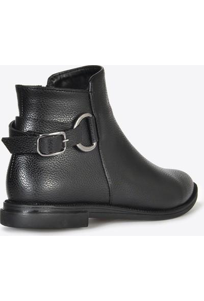 Vizon Ayakkabı Kadın Siyah Baskı Bot VZN20-065K