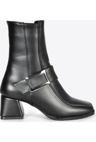 Vizon Ayakkabı Kadın Siyah Bot VZN20-005K