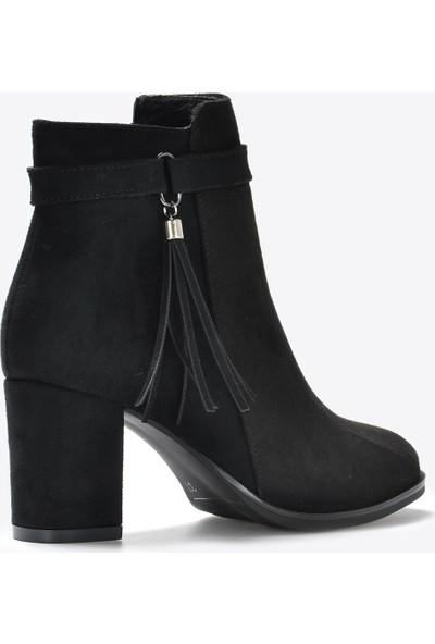 Vizon Ayakkabı Kadın Siyah Bot VZN20-053K