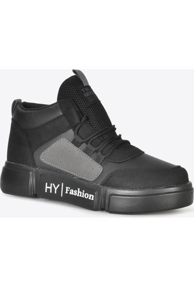 Vizon Ayakkabı Kadın Siyah Gri Sneaker VZN20-070K