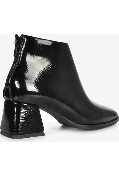 Vizon Ayakkabı Kadın Siyah Rugan Bot VZN20-004K