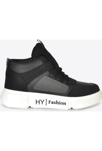 Vizon Ayakkabı Kadın Siyah Sneaker VZN20-070K