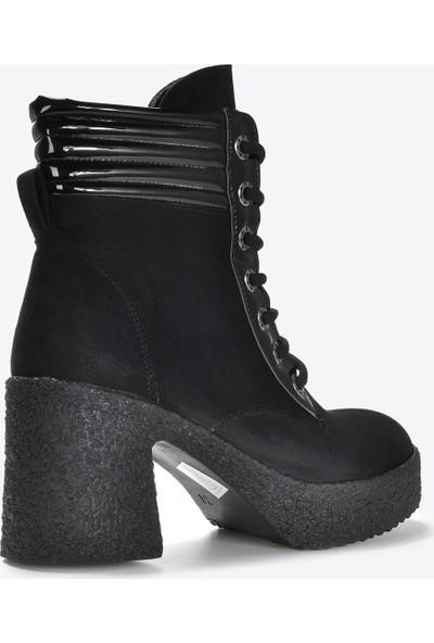 Vizon Ayakkabı Kadın Siyah Süet Bot VZN20-058K
