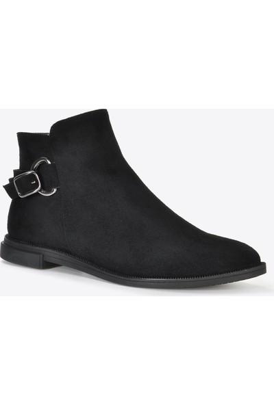 Vizon Ayakkabı Kadın Siyah Süet Bot VZN20-065K