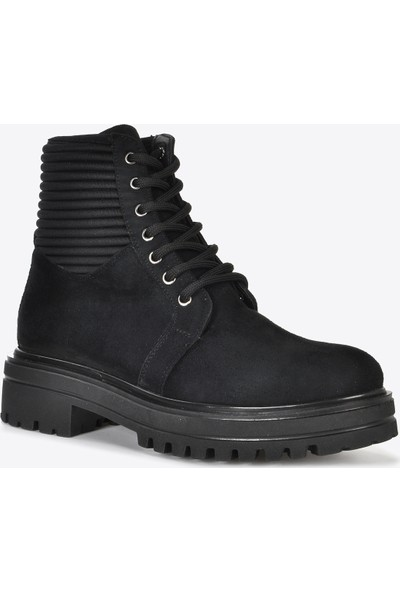 Vizon Ayakkabı Kadın Siyah Süet Bot VZN20-074K