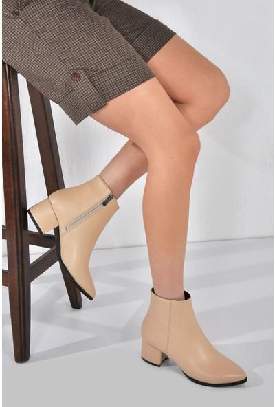 Vizon Ayakkabı Kadın Ten Bot VZN20-003K