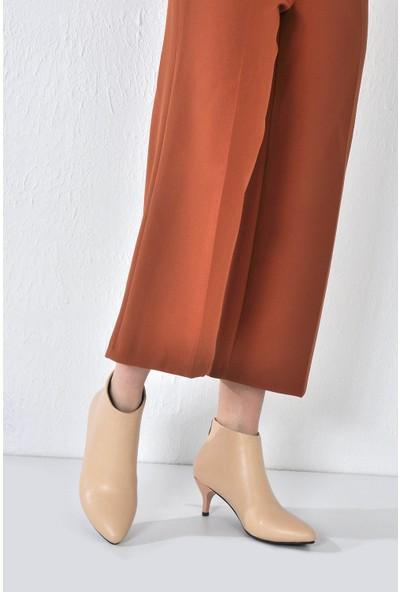 Vizon Ayakkabı Kadın Ten Bot VZN20-063K