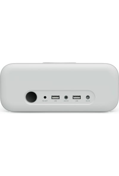 Anker SoundCore Wakey Qi Hızlı Kablosuz Şarjlı Çalar Saat FM Radyo - Bluetooth 5.0 Stereo Hoparlör - A3300 - Gri