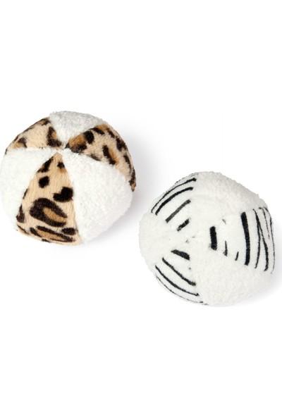 Karlıe Peluş Top Oyuncan 11CM Beyaz/siyah