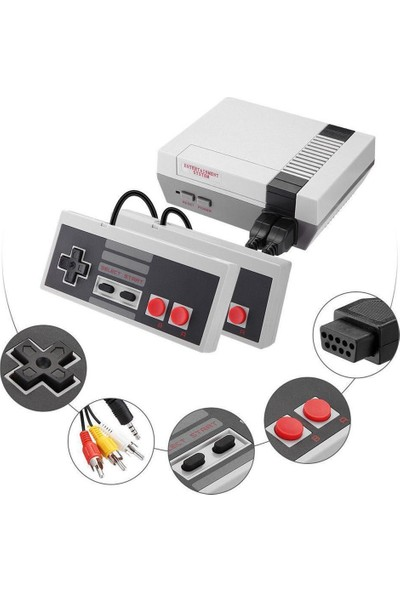 Seçkinhediyelik Romix Mini Game Built-In 620 Classic Game Oyun Konsolu