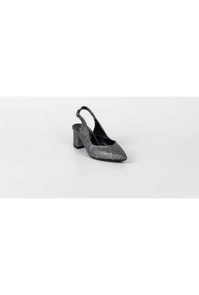 PM09 K701 Park Moda Arkası Açık Kadın Kare Topuk Ayakkabı