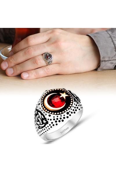 Sukha Aksesuar Ayyıldız Motifli Zirkon Taşlı 925 Ayar Gümüş Teşkilat-I Mahsusa Yüzüğü