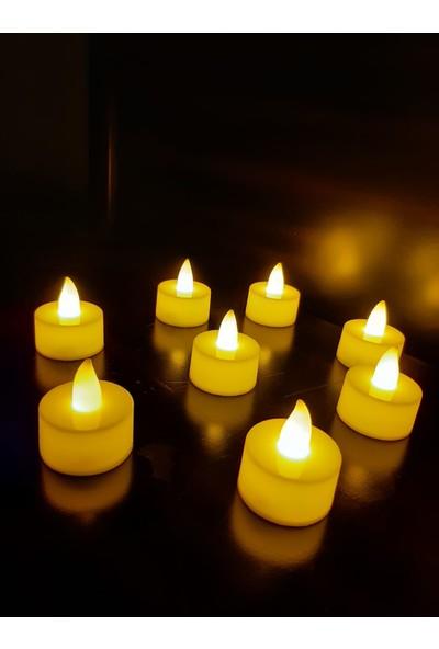 Ddtrend 24 Adet Titreyen Alevli Tealight LED Pilli Mum Sarı Işık Piller Dahil