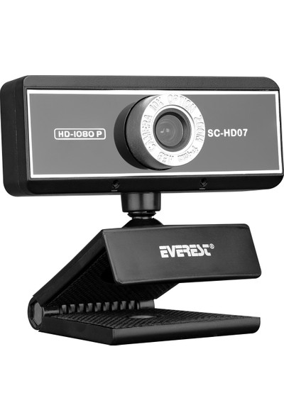 Everest SC-HD07 1080P USB Harici Mikrofonlu Pc Kamera