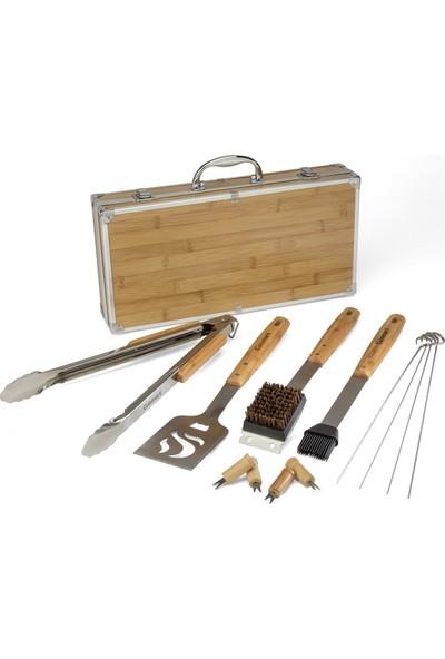 Cuisinart CGS-7014 13 Parça Bambu Mangal Alet Seti Bamboo Tool Set, 13-Piece