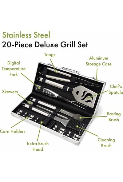 Cuisinart Deluxe Çelik Izgara Seti 20 Parça CGS-5020