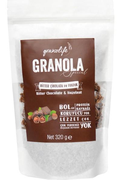 Granolife Bitter Çikolatalı Fındıklı Granola Special 320 gr