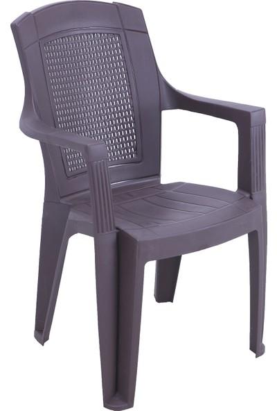 Romanoset Plastik Romanoset Padişah Kollu Plastik Sandalye 4 Lü Set