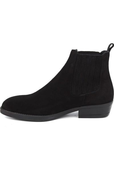 Marine Shoes Kadın Siyah Süet Bot