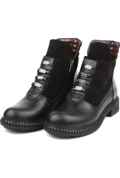 Marine Shoes Kadın Deri Fermuarlı Bot
