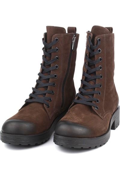 Marine Shoes Kadın Kahverengi Nubuk Bot