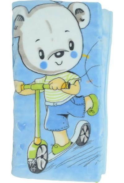 Recos Süpersoft Ayıcık Desenli Bebek Battaniyesi