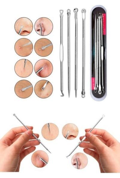 Lusso Cosmetic 5in1 Yüz Temizleme Aleti + 4lü Set Komedon