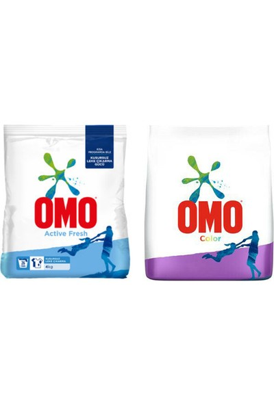 Omo 4 kg Color + Omo 4 kg Actıve Fresh