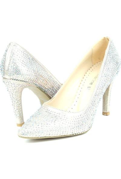Marine Shoes Kadın Taşlı Topuklu Ayakkabı