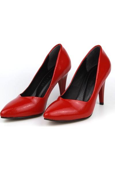 Marine Shoes Kadın Kırmızı Topuklu Ayakkabı