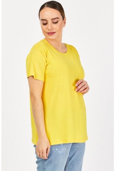 Epaavm Büyük Beden Penye Kadın T-Shirt