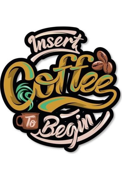 Meşgalem Ahşap Dekoratif Yazılı Insert Coffee Mutfak Süsü
