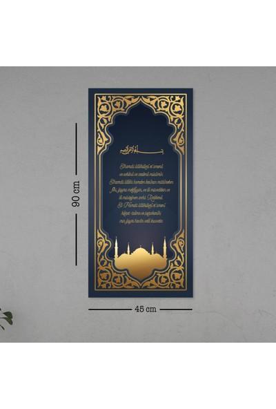 Meşgalem Yemek Duası Dekoratif Tablo Duvar Süsü