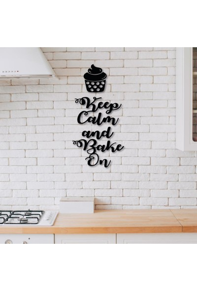 Meşgalem Ahşap Dekoratif Siyah Keep Calm Yazılı Mutfak Tablo Süsü