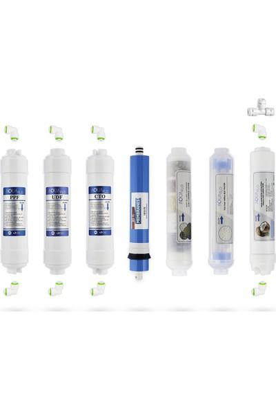Mil Su Kapalı Kasa Su Arıtma Cihazı 11'li Filtresi Standart Membran Set