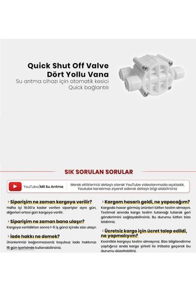 Mil Su Su Arıtma Cihazı Için Quick Shut Off Valve Dört Yollu Vana